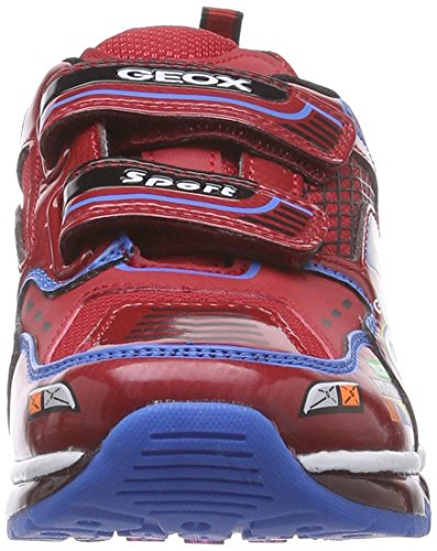 Geox Android B A, Baskets Basses Garçon Multicolore - Mehrfarbig (C7239RED/SKY)