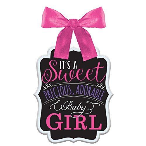 Amscan International 241541MDF Baby Dusche Girl Schild