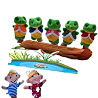 Homgaty Story Telling Sack Bag Finger Puppets Nursery Rhyme Fairy Tale Aussie Toys Children Gift Present (Five Little Speckled Frogs)