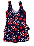 #4: Infant Baby Girls printed One-Piece Swimsuit Ruffle Skirt Swimwear Bathing Suit cloth (ASSORTED PRINTS & DESIGNS)