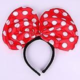 Partysanthe Disney Minnie Mouse Red Polka Dots Ears Headband Costume Headwear