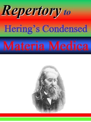 REPERTORY OF THE HEART SYMPTOMS FOUND IN HERINGS CONDENSED MATERIA MEDICA.
