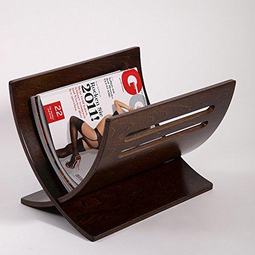 DESIGN ZEITUNGSSTÄNDER NEWS von XTRADEFACTORY Zeitungskorb Magazin Box Ablage Zeitung Holz retro-braun