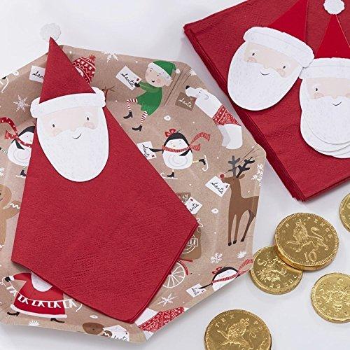 Santa & Friends - Christmas Santa Napkin Topper Kit