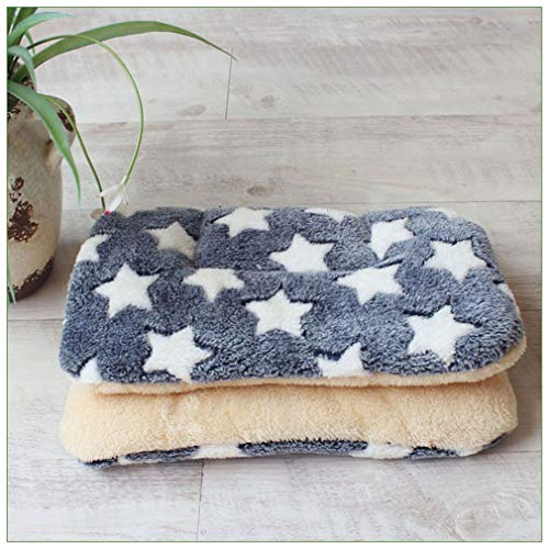 ekcnjs Warme Hundebett Weiche Haustier Decke Katzenstreu Welpen Schlafmatte Schöne Matratze Kissen Für Kleine und Große Hunde Gold Star 110x75cm -