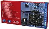 Konstsmide 1128-020 LED Baumkette mit Schaftkerzen /  für Außen (IP44) / VDE geprüft / 230V Außen / teilbarer Stecker / 16 warm weiße Dioden / grünes Kabel