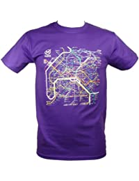 RATP - T-Shirt Homme Officiel Paris Métro - Couleur : Violet