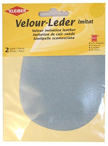 Kleiber - Toppe ovali da cucire su ginocchia/gomiti 12,5 x 10 cm in similpelle scamosciata, anidrite