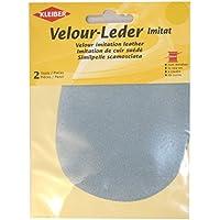 Kleiber - Rodilleras/coderas ovaladas de antelina, para coserlas, 12,5 x 10 cm, color azul anhidrita
