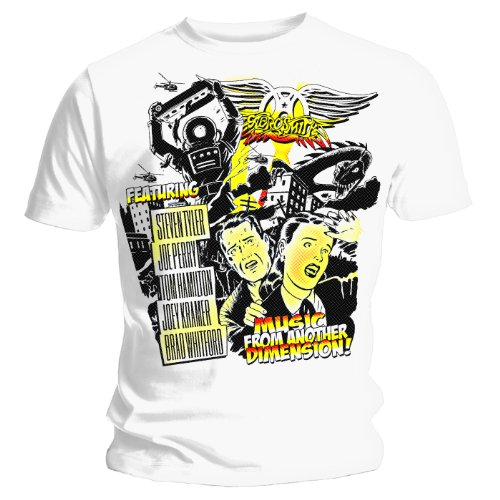 Aerosmith - Camiseta Dimension álbum Blanco Blanco 58/60