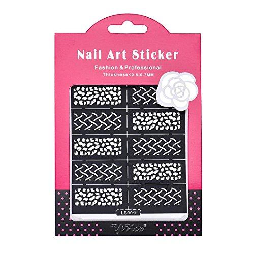 Oyedens professionali riutilizzabili strumento Stamping Nail Art modello adesivi Stamp Guida Stencil Tips