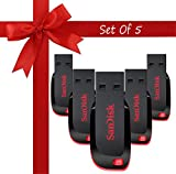 #7: Sandisk Cruzer Blade CZ50 USB 2.0 Pendrive (16 GB) - Pack of 5