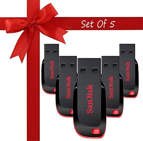 Sandisk Cruzer Blade CZ50 USB 2.0 Pendrive  16  GB    Pack of 5