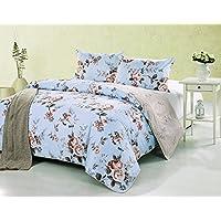 Kath & Cath Set biancheria da letto in 100% cotone, reversibile, elegante motivo floreale Country (Cottage Garden Quilt)