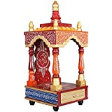 APKAMART Handcrafted Wooden Temple for Puja - 18 Inch - Handicraft Hanging Temple for Pooja, Home Decor, Room Decor and Gifts