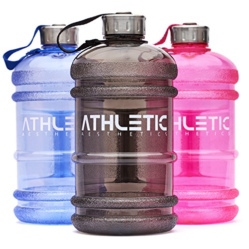 Water Jug - Sport Trinkflasche - Waterjug - Wasserflasche - Gym Bottle - Trainingsflasche - Water Bottle - Fitness Bottle - Wasser Kanister 2.2 Liter - Trinkflasche - ATHLETIC AESTHETICS - Blau