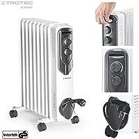 TROTEC Elektro Heizung Ölradiator TRH 20 E (2000 Watt, 3 Heizstufen, Thermostat, 4 Lenkrollen, praktische Kabelaufwicklung, integrierter Griff)