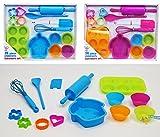 14 piezas Para niños para hornear de silicona para hornear Set - Cupcake Cake cortadores de galletas Moldes