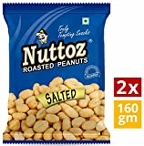 #1: Nuttoz Salted Roasted Peanuts 160gm (Pack of 2)