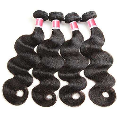 (YZ-YUAN Perücke Haarteile brasilianische Wasserwave-Jungfrau 3 Bundles Haarausschläge ideal für Cosplay und Fancy Dress Kostüm,121416inch)