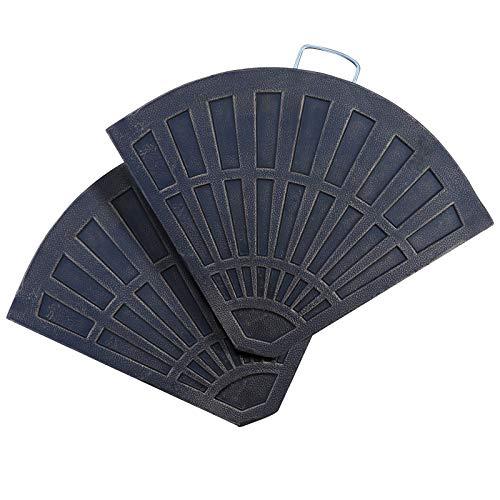 Pi Platte (Outsunny 2 TLG. Sonnenschirmständer Platten-Schirmständer Sonnenschirmbasis Schirmständer halbrund abnehmbar Handgriff mit Harz Segment + Metall Bronze 66 x 47 x 4,2 cm 30 kg)