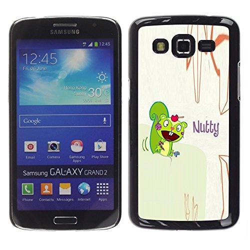 GooooStore/Dura Custodia Rigida della copertura della cassa - Squirrel Mad Funny Quote Cartoon Drawing - Samsung Galaxy Grand 2 SM-G7102 SM-G7105
