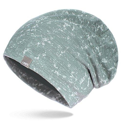 UNIQ Long Beanie Strickmütze Damen Mütze Oversize Slouch | Atmungsaktiv | Baumwolle...