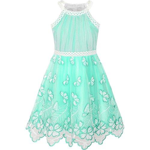 is Schmetterling Bestickte Halfter Kleiden Gr. 122 (Kleid Mit Schmetterlingen)