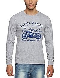 Adro Full Sleeve Cotton T-Shirt For Men Frname_Grey_S