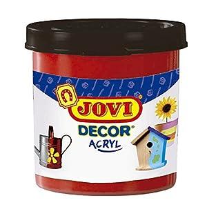 Jovi - Acryl, Caja de 6 Botes, Pintura multisuperficie, Color bermellón (67007)