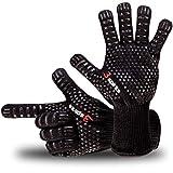 3-spirits Designer Finger Backhandschuhe, Grillhandschuhe, Ofenhandschuhe, hitzebeständig bis 350°C, 1 Paar