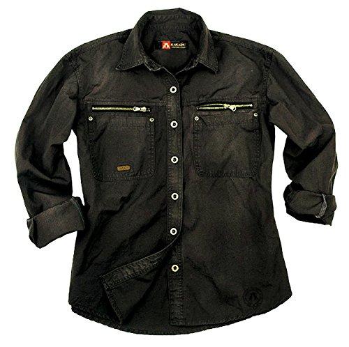Herren Outdoor Arbeits- Hemd aus robuster Baumwolle von Kakadu Australia Schwarz