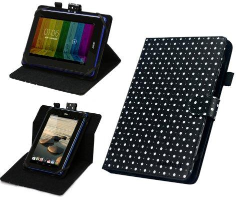 Navitech 7 Zoll gepunktetes rotierbares Stand Case Cover für das HP Slate 7 HD / HP Slate 7 / HP Slate 7 Plus HD