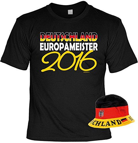 Fußball T-Shirt Set mit Hut, Fanartikel, Fanshirt, Trikot - Deutschland Europameister 2016!