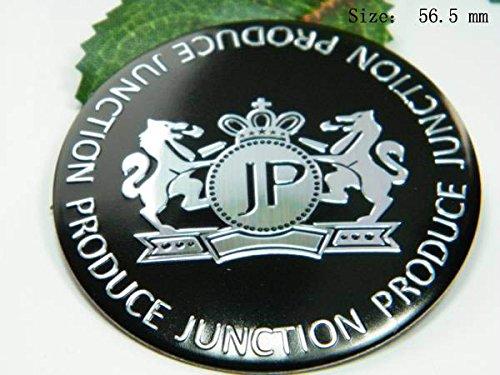 R111 JP 2 stück Schwarz Felgendeckel 3D Emblem mobil Auto Aufkleber Nabendeckel Radkappen Nabenkappen 56,5 - Schwarz Nabendeckel Jeep