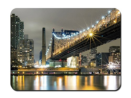 Kapuzenpullover Die wundervollen Queensboro Bridge in NYC – 9 x 7 Maus (Party Nyc Supplies)