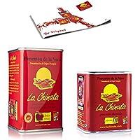 Pimentón de La Vera Ahumado pack La Chinata lata Dulce 160g y lata 70g Picante