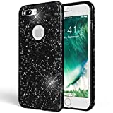NALIA Handyhülle für iPhone 7 Plus, Glitzer Ultra-Slim Silikon-Case Back-Cover Schutz-Hülle, Glitter Sparkle Handy-Tasche Bumper, Dünnes Bling Strass Edel Etui für Apple i-Phone 7+ - Grau