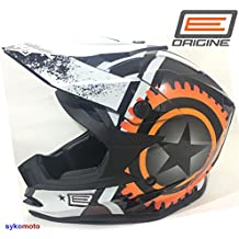 VCAN V321 FOXHILL MOTOCROSS OFF ROAD ACU ATV QUAD ADULTO BLANCO NARANJA CASCO (S (55-56 CM))