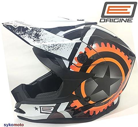 Vcan V321Foxhill Nouveau Design de motocross Offroad ACU ATV Quad Blanc Orange Adulte