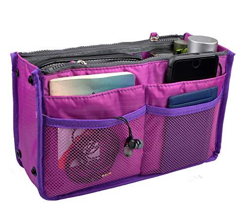a0ae20f45c5f Vercord Updated Purse Handbag Organizer Insert Liner Bag in Bag 13 Pockets  3 Size Purple Size: Medium
