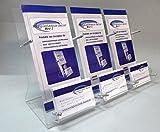 Flyer Ständer Halter mit Visitenkarten Ständer 3-Fach aus Acrylglas