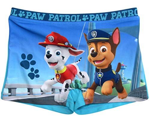 Paw Patrol Badeshorts Jungen Badehose (Blau, 104-110)