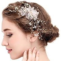 fascia per capelli capelli pettine da sposa vintage di cristallo clip strass  capelli accessori per capelli perla... di Hopefultech 80345428db73