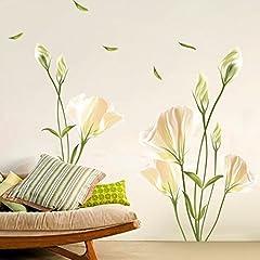 Idea Regalo - Alicemall Wall Sticker Adesivi da Parete Adesivo Murale Fiori Decorazione Fai da Te in PVC (Stile 6) 90cm x 60cm
