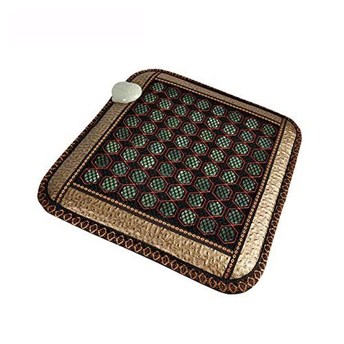 D&f cuscinetto riscaldante a infrarossi giada naturale tormalina di germanio controller intelligente terapia delle pietre per sollievo dal dolore cuscino da ufficio (45x45 cm)