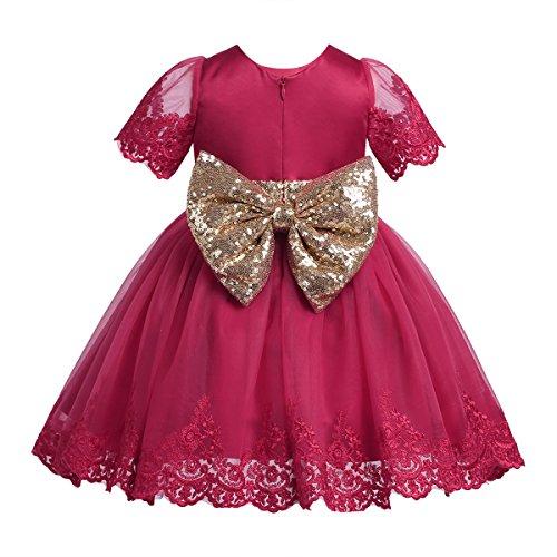 iiniim Baby Kleid Prinzessin Kleid Blumenmädchenkleid Baby mädchen Taufkleid Festlich Hochzeit...