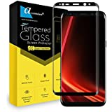 Ascension For Samsung Galaxy S8 Curve Tempered Glass Gorilla Screen Protector Screen Guard High Premium Quality 9H Hard 2.5D Ultra Clear (Black) (Pack Of 2)
