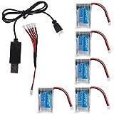 GEEDIAR® 5X 3.7V 150mAh 20C de Batería y el Sistema del Cable de USB para JJRC H20 Quadcopter