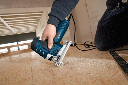 Bosch Professional GST 150 CE Stichsäge (mit 1 Sägeblatt T144D, max. 150 mm Schnitttiefe, 780 W, Koffer) 0601512000 - 5